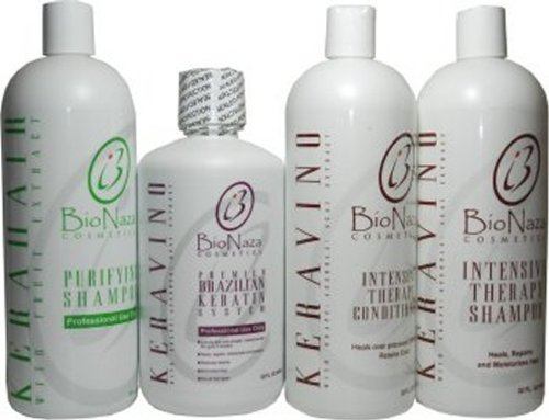 Kera Vino Brazillian Keratin System All in One Set 32oz by BioNaza Cosmetics