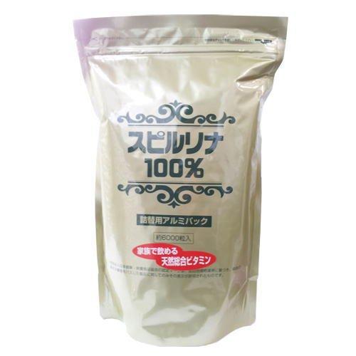 スピルリナ100% 詰替用(6000粒×2袋セット)   B014R4J7K8
