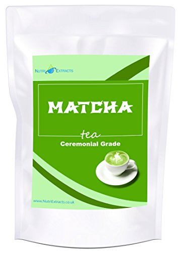Matcha Green Tea Powder 100g Pouch Ceremonial Grade - for, tea, mixing,...