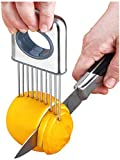 Lemon slicer fruit splitter onion cut stainless steel ultra-thin household cutting vegetables auxiliary tools kitchen accessorie (5x2.9)