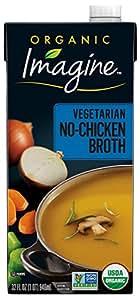 Imagine Organic No-Chicken Broth, 32 Fl Oz (6 Pack) (Packaging May Vary)