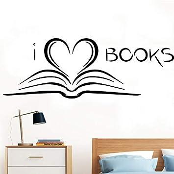 Finloveg Libro De Lectura Calcomania De Pared Corazon Romantico