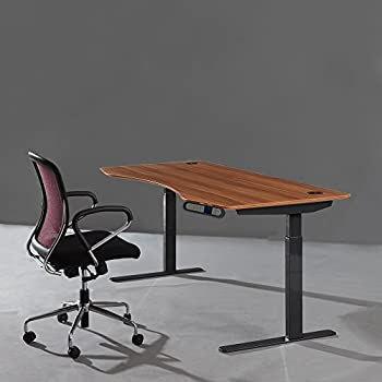 Apex Height Adjustable Electric Office Desk with Memory Controller (Red Apple)