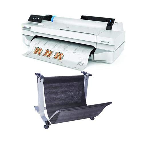 HP DesignJet T100 24″ Wireless Large-Format Inkjet Printer, 1200×1200 dpi, 256MB Memory DesignJet T100/T500 24″ Printer Stand
