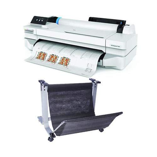 HP DesignJet T100 24″ Wireless Large-Format Inkjet Printer, 1200×1200 dpi, 256MB Memory DesignJet T100/T500 24″ Printer Stand