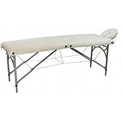 Ultra Light Weight Supreme Edition Massage Table with Aluminium Frame in White Color