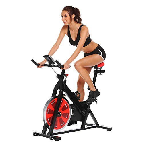 Dtemple Pro Indoor Fitness Exercise Bike Cycling Bike Cycle Trainer Exercise Bicycle for Home Office Gym (US STOCK) Dtemple