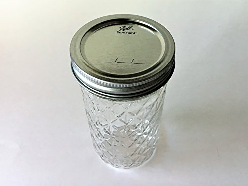 Mason Ball Jelly Jars-12 oz. each - Quilted Crystal Style-Set of 4 by Ball (Image #1)