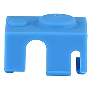 fosa 3D Printer Part 241815mm Silicone Shock Cover, Blue Heater Block Protective Cover Case for 3D Printer Part V6 PT100 by fosa