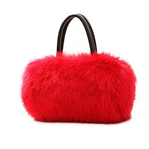Bolso de Hobo Rojo rojo Bolso largo monedero la JR Bolso piel del mujeres bolso de embrague del las faux del del de Gloria señoras las UEqSwAAa