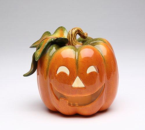 Cosmos 10362 Fine Porcelain Pumpkin Tea Light Holder, -