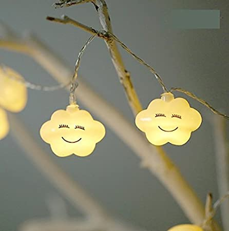 UChic 1.5 m 10led Creative LED Batterie Smile Cloud Night Lights Mignon LED  Guirlande Lumineuse Lampes pour Chambre bébé fête Vacances Décor lumière ...