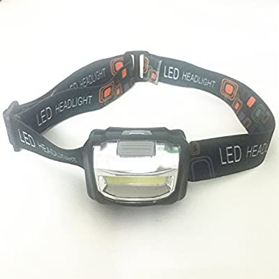 Vitech Headlamp LED for Camping, Running, Hiking, Reading, 4 Modes LED Headlamps, Battery Powered Helmet Light, Hands-free Camping Headlight with 3 AAA Batteries and a Battery Charger
