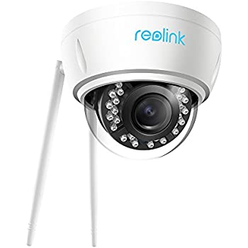 Reolink 5MP IP WiFi Home Security Camera 4X Optical Zoom Autofocus Vandal-Proof IK10 Dome Outdoor & Indoor IR Night Vision RLC-422W