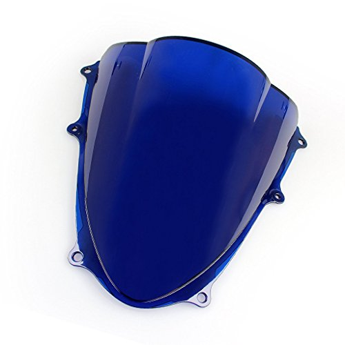 pslcustomerservice Windshield WindScreen Double Bubble For Suzuki GSXR1000 K9 2009-2016 (Blue)