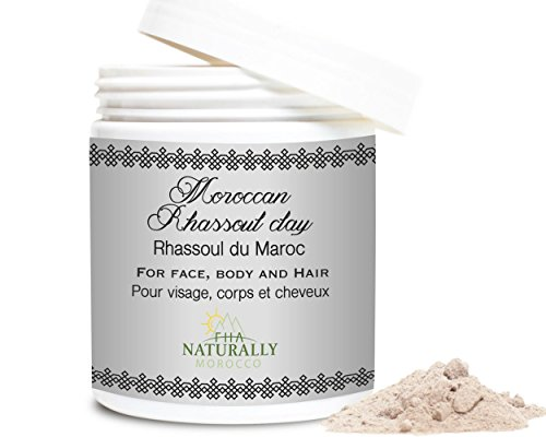 Rhassoul (Ghassoul) Moroccan Clay Powder - 10 oz Facial Mud Mask Scrub – Natural Deep Cleanser for Face, Hair, Skin Care - Highly Detoxifying and Essential for Men and Women