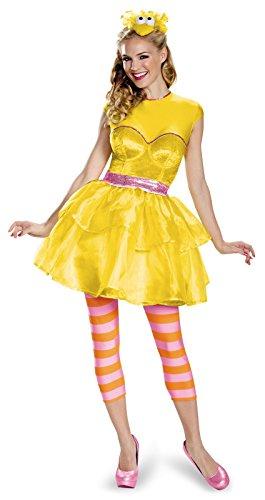 Big Bird Adult Costumes (Disguise Women's Big Bird Sweetheart Dress Costume, Yellow, Small)