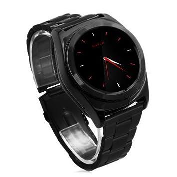 No.1 S5 smartwatch-wetech®-Correa de acero color negro ...