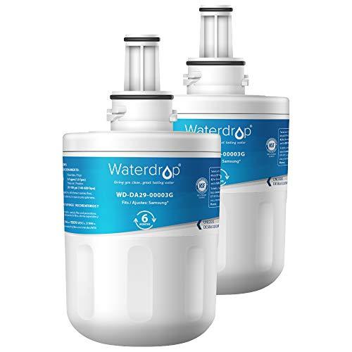 Waterdrop DA29-00003G Refrigerator Water Filter, Compatible with Samsung DA29-00003G, Aqua-Pure Plus DA29-00003B, HAFCU1, DA29-00003A, Standard, Pack of 2