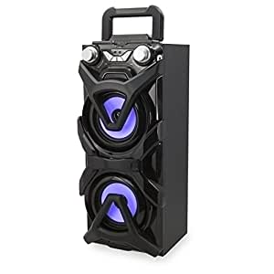 iLive Portable Wireless Speaker, Rechargeable Lithium Ion Battery, Black (ISB117B)