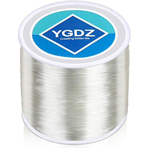 1mm Bracelet String, YGDZ Clear Elastic Cord Stretchy Crystal Thread Bracelet Strings for Jewelry Making Bracelets Beading Crafting, 1 Roll 100m (1.0mm)