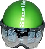 Steelbird SB-27 Open Face Helmet (Green, L)