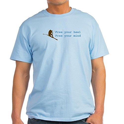 Telemark Powder Skis - CafePress Free Your Heel Light T-Shirt 100% Cotton T-Shirt