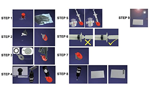 ATG Windshield-FIX | Full Repair Kit for Cracks, Scratches, Chips | 17 pieces. | DIY Smart Repair by ATG (Image #4)