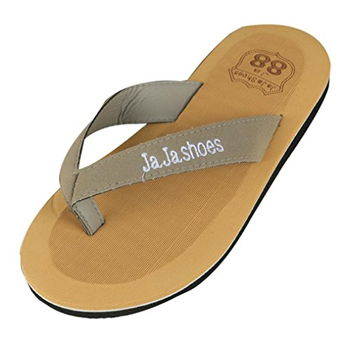 Voberry® Fahion Män Flip-flops Tofflor Sandaler Thong Flip-flop Grå