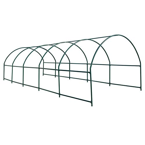 Strong Camel Greenhouse Replacement Frame for 24.6'X10′ X 7′ Larger Hot Garden House, Support Arch Frame Climbing Plants/Flowers/Vegetables (24.6'X10′ X 7′)