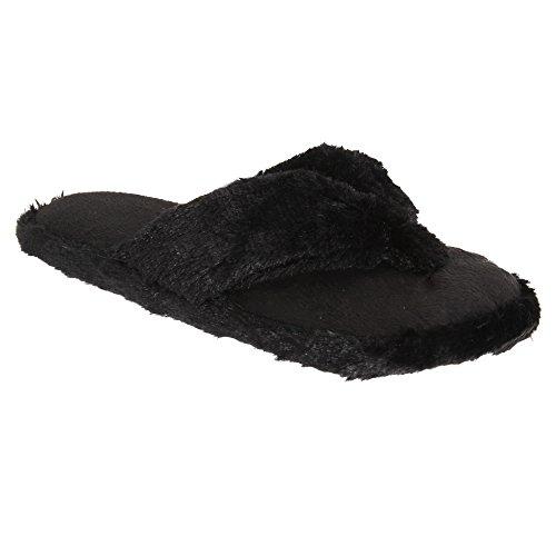 Per Sempre Sognando Le Donne Fluffy Memory Foam Flip-flop Pantofole Rosa Caldo