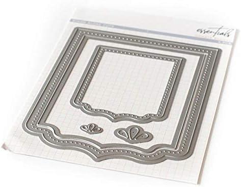Metal cutting dies cut die mold Dotted rectangular frame Scrapbook paper craft