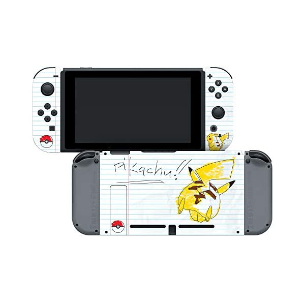 Controller Gear Officially Licensed Nintendo Switch Skin & Screen Protector Set - Pokemon - Pikachu Scribble Set 1… 2