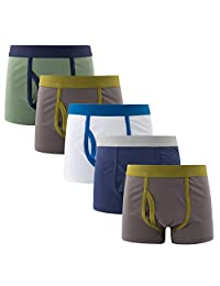 Boys Boxer Underwear, Children Panties for Organic Cotton for 2-12Years Teenager Underpants 5Pack,5,2T3T