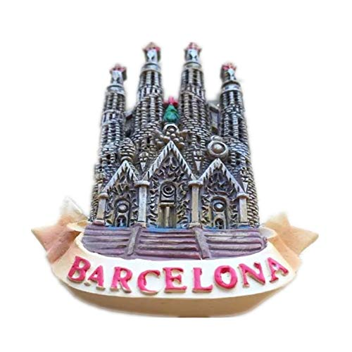 Sagrada Familia Barcelona Spain Resin 3d Strong Fridge Magnet Souvenir Tourist Gift Chinese Magnet Hand Made Craft Creative Home and Kitchen Decoration Magnetic Sticker