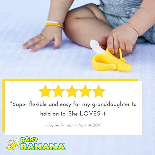 Baby Banana  Yellow Banana Toothbrush Training Teether Tooth Brush for Infant Baby and Toddler