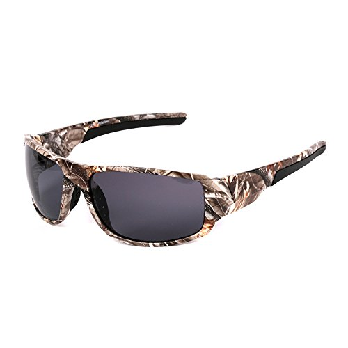 Sports Polarized Sunglasses, 100%UV Protection Unbreakable Sports Glasses for Men or Women Cycling, Baseball Riding, Driving, Running, Golf,Outdoor - Sunglasses Polarized Camo