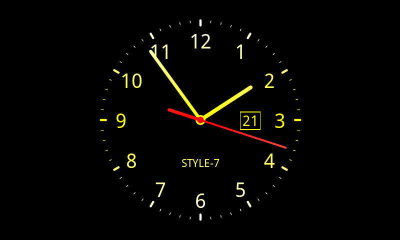 New analog clock downloads.