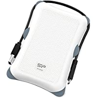 Silicon Power 1TB PS4 Xbox Compatible Type C USB 3.0 Rugged Armor A30 Military-grade Shockproof 2.5 Inch Portable External Hard Drive for PC and Mac - White (SP010TBPHDA30S3KAE)
