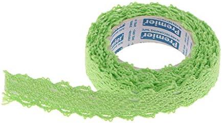 全8色 和紙 テープ リボン レース トリム DIY スクラップブッキング カード作成 約2ヤード - 緑