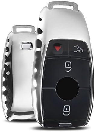 Amazon.com: Ontto para Mercedes Benz Llavero Premium suave ...
