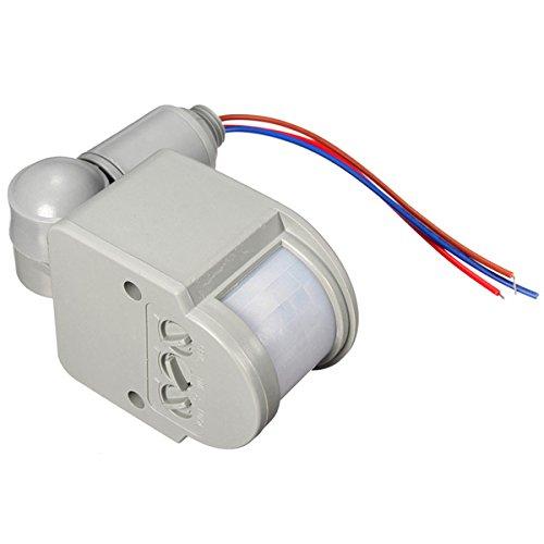 LED 110V-240V Infrared PIR Motion Sensor Detector Wall Light Switch 140Degree 12M (S5 Cricket Phones On New Network)