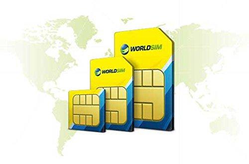 WorldSIM International SIM Card - Including £10 Credit