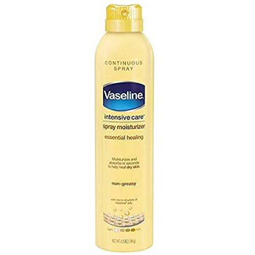Vaseline Intensive Care Spray Moisturizer Essential Healing, 6.5 oz (Pack of 2) (Spray Vaseline)