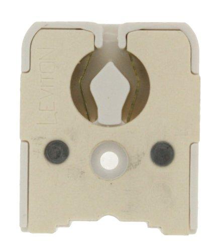Leviton 431-W Medium Base, Bi-Pin, Standard Fluorescent Lampholder, White
