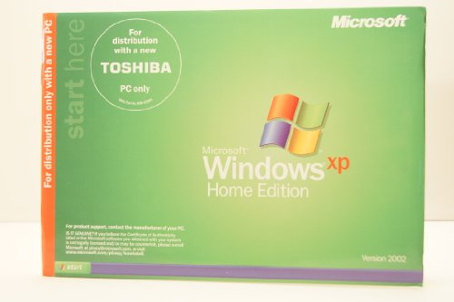 Xp Recovery Dvd (Toshiba Recovery And Applications/Drivers DVD Satellite M30X/M35X Series Windows XP Home Edition PC Computer Software Program Disc Version 2002 Part Number# TK143/PMAE00146013)