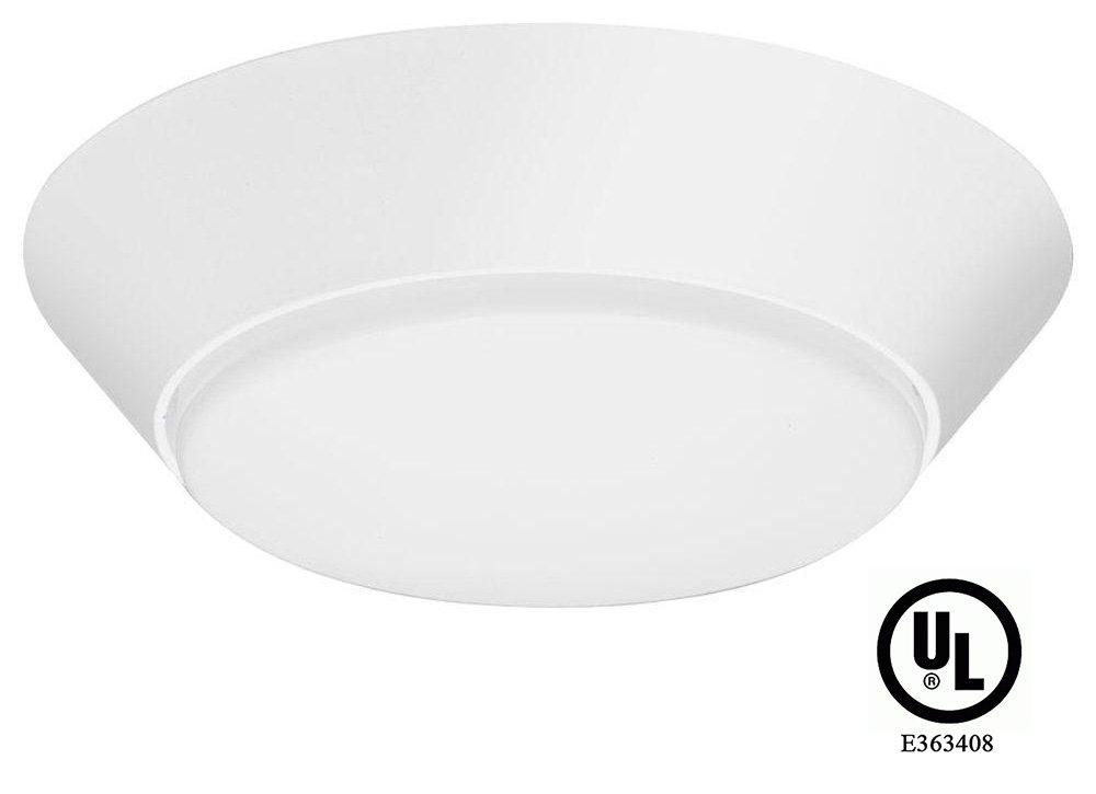 UL Listed LEDrock Sapphire Series 10 Watt LED Flush Mount Light, 4000K Neutral White, 120V, Comparable to 75 Watt Halogen, 700 Lumens, Breezeway & Corridor Lighting, Warranty Based in Denver, CO, USA