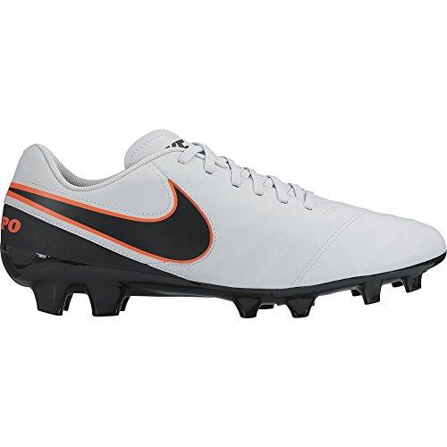 Nike Herren Tiempo Genio Ii Leather Fg 819213 001 Fußballschuhe Weiß (Pure Platinum/Black-hypr Orng 001)