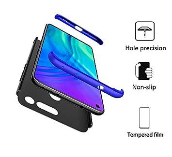 FMPC Funda Compatible con Huawei Honor V20, Caso Carcasa Huawei Honor V20 Slim Fit 360 Grados 3 in 1 Todo Incluido Protección Cover Anti-Rasguño con ...