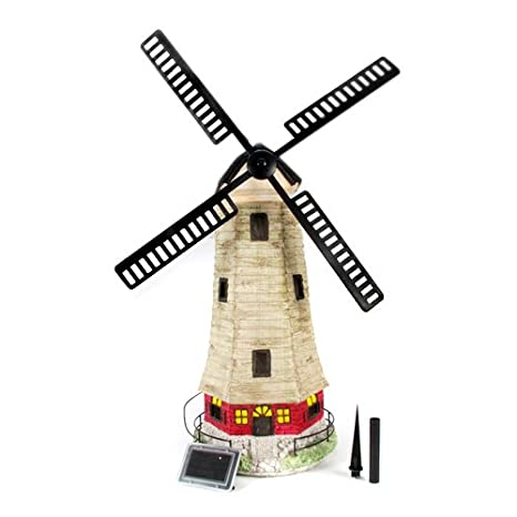 Large Solar Windmill Garden Landscape House Light C5118W